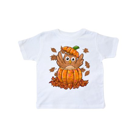 Owl in a Pumpkin- cute for Halloween and Thanksgiving Toddler T-Shirt