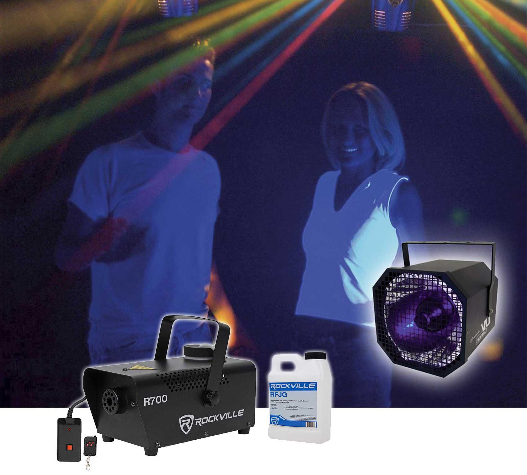 American DJ UV Canon 400 Watt High Power Blacklight Light Fixture+Fog Machine by American DJ