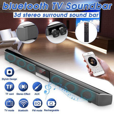 Hi Fi Rim - 60W blue-tooth Soundbar With DSP Clock Sound Effect 360° 3D TV Wireless Sound bar Regulation Dual Built-in Subwoofers HIFI Display Screen Home Theater Audio 34 inch