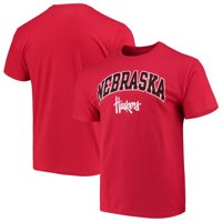 Men's Russell Athletic Scarlet Nebraska Cornhuskers Crew Core Print T-Shirt