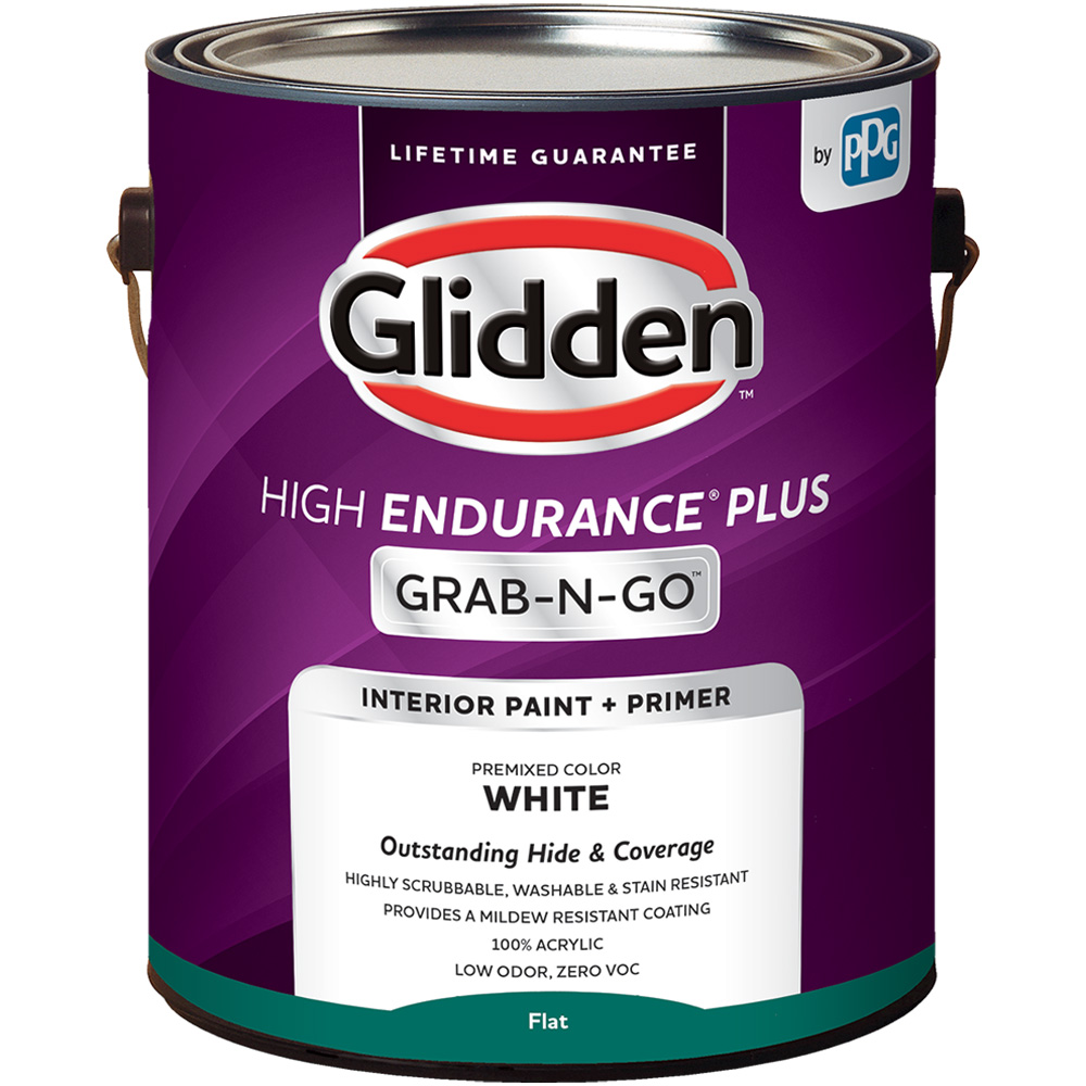Glidden High Endurance Plus Grab N Go Flat Interior Paint Primer White 1 Gallon Walmart Com Walmart Com