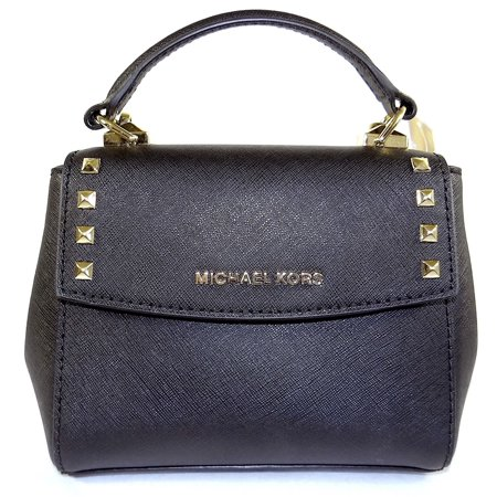 9cddccda33b8bb MICHAEL KORS LEATHER KARLA MINI CONVERTIBLE TH CROSSBODY BAG IN Black  192317132588 - Walmart.com