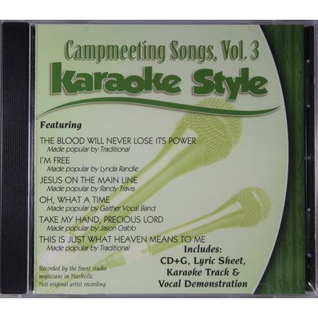 Campmeeting Songs Volume 3 Daywind Christian Karaoke Style NEW CD+G 6 - Top Three Halloween Songs