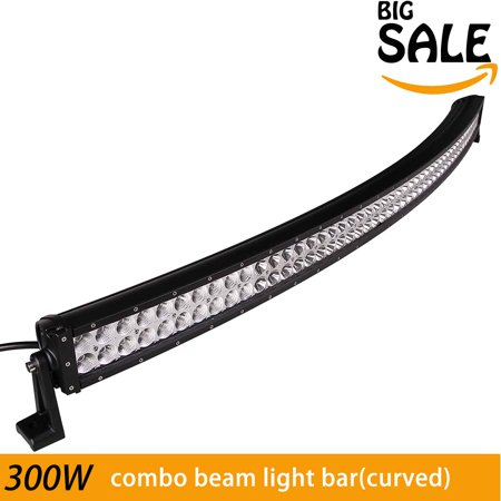 Four Wheel Drive Vehicle (Led Light Bar, Phenas 52 inch 300W Curved Light Bar 18000LM Off-road Light Bar Flood Spot Combo Beam IP 67 Waterproof for Off-road Vehicle, ATV, SUV, UTV, 4WD, Jeep, Boat- Black)