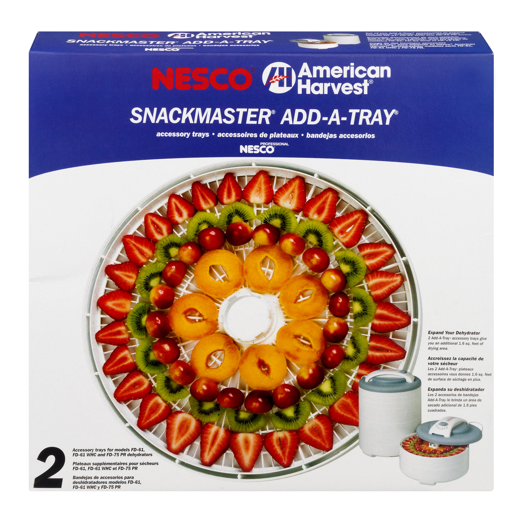 Nesco American Harvest Snack Master Add A Tray, 2.0 CT
