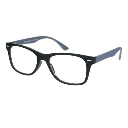 Matte Rubberized Hipster Horn Rim Spring Hinge Reading Glasses Black (Green Hipster Glasses)