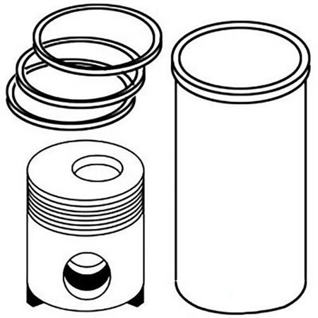 RE508156 New Low Compression Piston Kit For John Deere