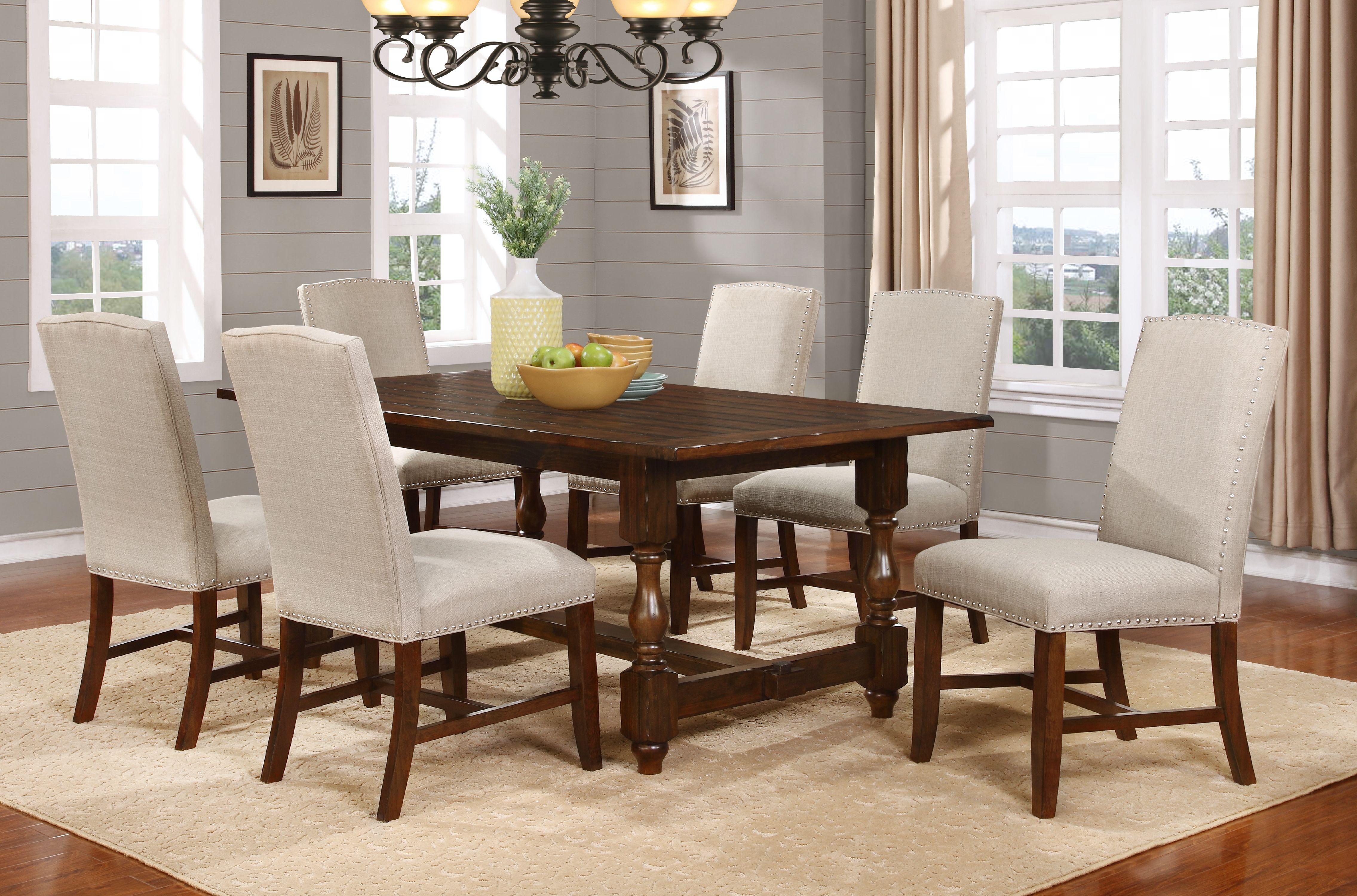 Best Master Furniture Hoover Walnut Color 5-Piece Dining Room Set by Best Master Furniture