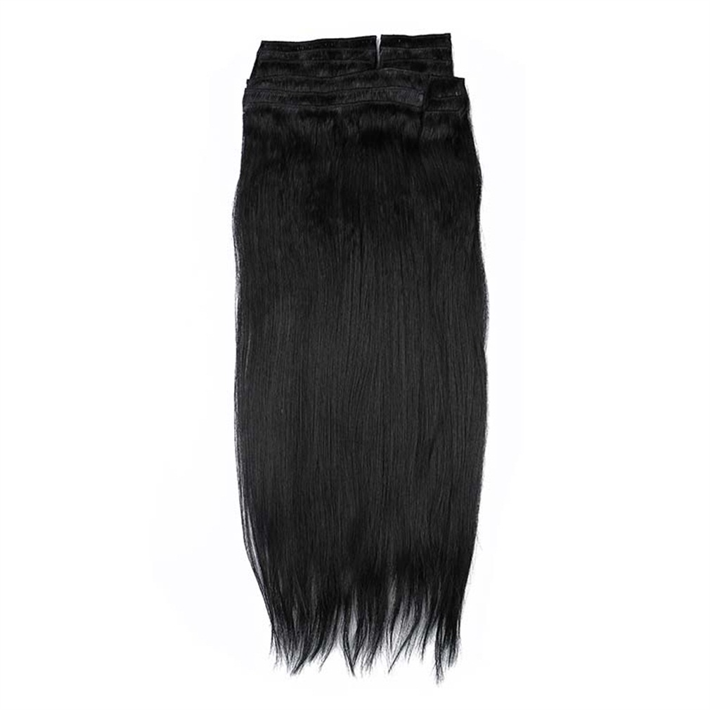 """2015 NEW Double Weft 220g 20""""24"""" Clip in Full Head Human ..."""