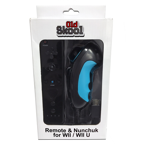 Wii Remote and Nunchuck Controller For Nintendo Wii and Wii U - Black
