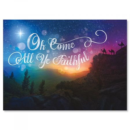 Night Star Nonpersonalized Scripture Christmas Cards - Set of 18