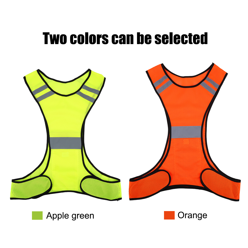High Visibility Reflective Vest Safety Vest Night Running Security Clothing Adjustable Waist,Perfect Gear for Running, Jogging, Cycling, Dog Walking, Working or Safety Kit in your Car