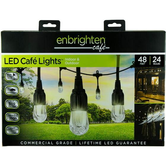 Enbrighten Clic Shatterproof Led Café String Lights 48ft