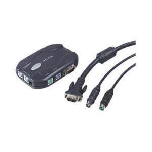 Belkin 2-Port KVM Switch Bundled With Cables F1DJ102PB Belkin Kvm Universal Cables