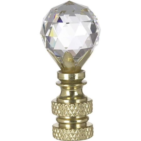 Swarovski Faceted Finial Crystal Ball Finish