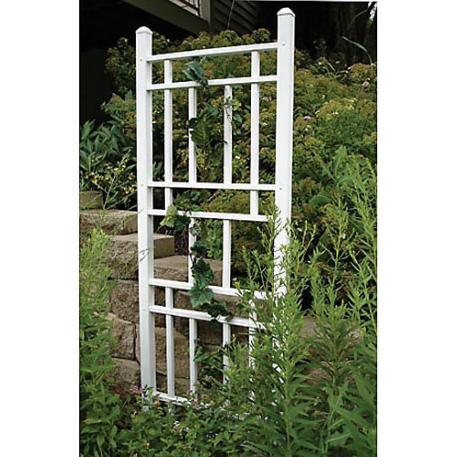 Dura-Trel Wellington 6.25-ft. Vinyl Wall Trellis White by Dura-Trel