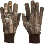 Realtree Xtra Men's Jersey Gloves (Camouflage Lined Gloves)