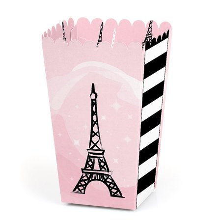 Paris, Ooh La La - Paris Themed Baby Shower or Birthday Party Favor Popcorn Treat Boxes - Set of 12 - Toddler Birthday Party Themes