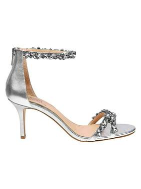 Caroline Rhinestone Leather Sandals