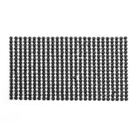 Black 5mm Round Self Adhesive Bling Crystal Rhinestone Decorating DIY Stickers - image 2 of 2