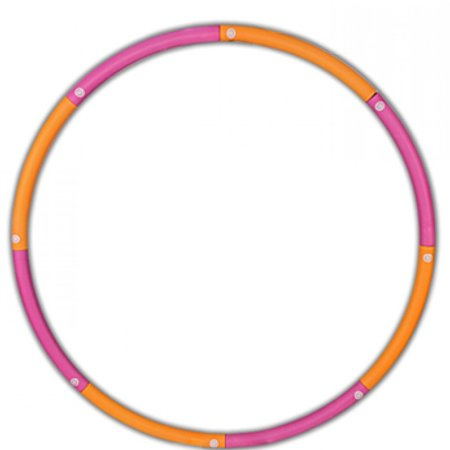 Portable Detachable Exercise Plastic Hula Hoop Ring Perfect For Dancing Fitness Exercise
