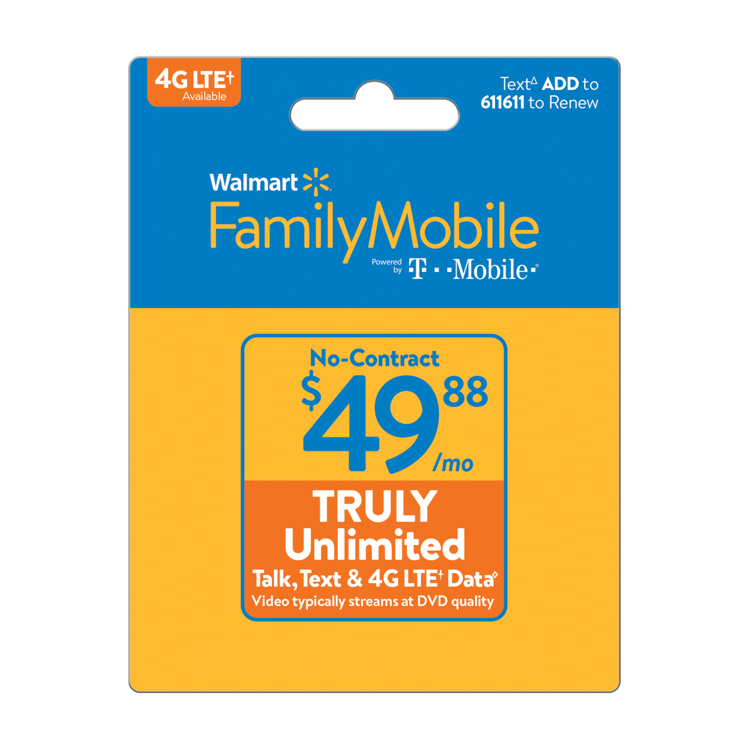 Walmart Family Mobile $49.88 TRULY Unlimited Monthly Plan (Email Delivery)