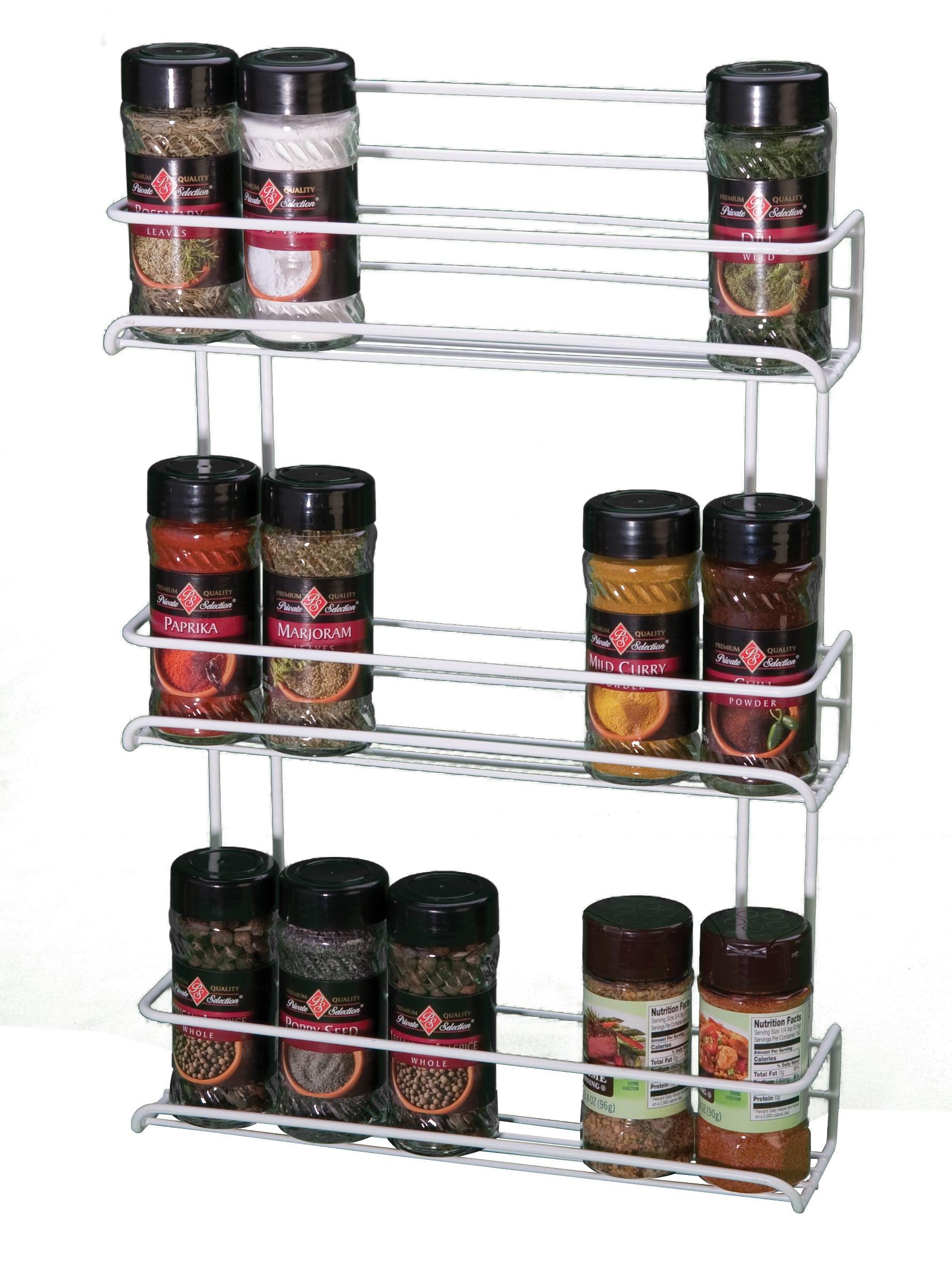 Panacea Gourmet Shelf Spice Rack with 3 Shelves, White by Panacea