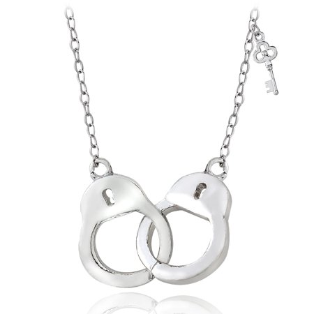 - Sterling Silver Polished Handcuff Necklace