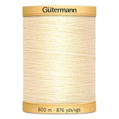 Gutermann Natural Cotton Egg White Thread, 876 Yards, 1 (Gutermann Cotton Quilting Thread)