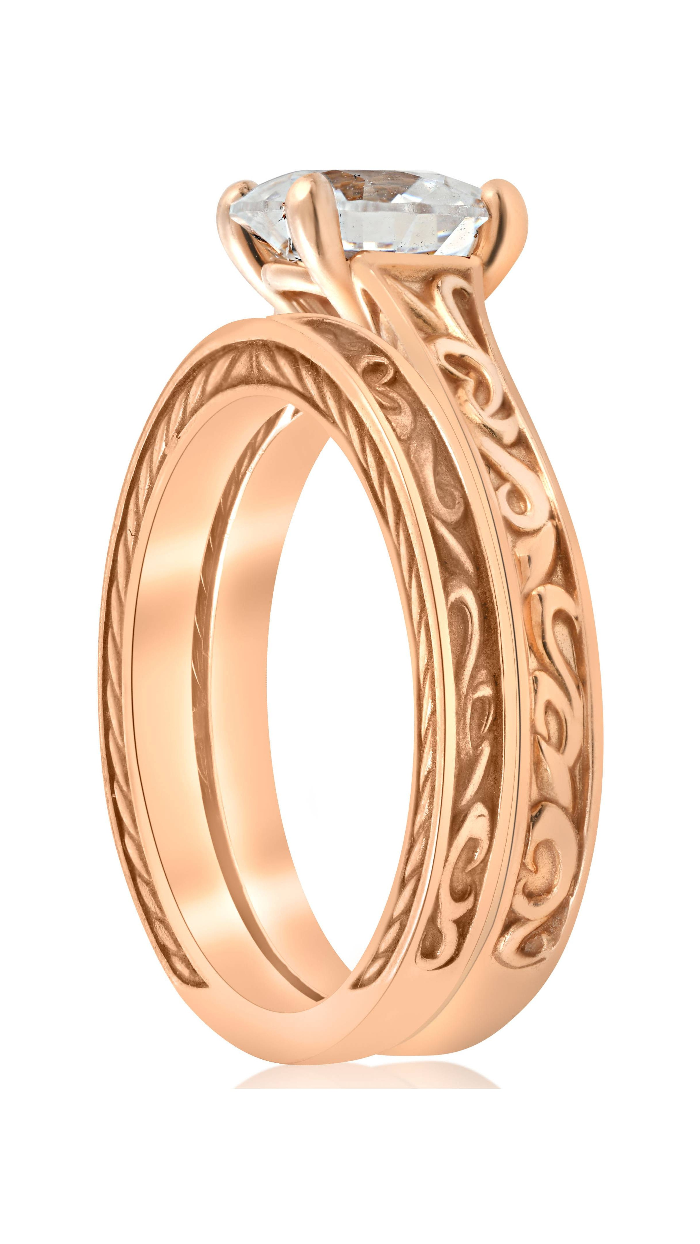 Pompeii3 1ct Diamond Solitaire Rose Gold Vintage Engagement Ring Wedding Band Walmart: Wedding Ring Pool Toy At Reisefeber.org