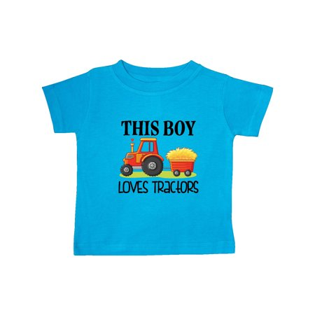 Farming Cute Boy Loves Tractors Baby T-Shirt Cute Baby Hands Tee