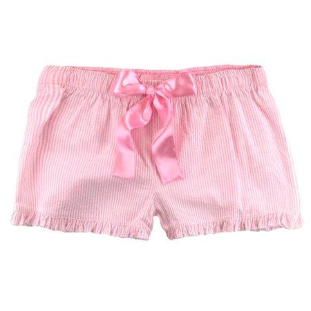 Boxercraft: Ruffled Cotton Seersucker PJ Short AND a Hometown Clothing Garment Guide Pink-M