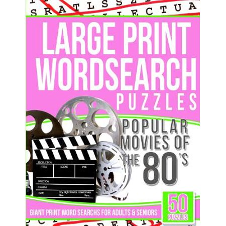 Large Print Wordsearch Puzzles Popular Movies of the 80s - Dressing Like The 80s