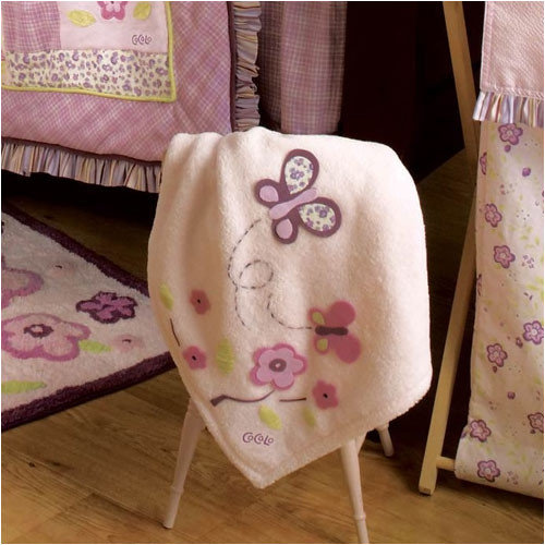 CoCaLo Baby Sugar Plum Appliqued Sherpa Blanket