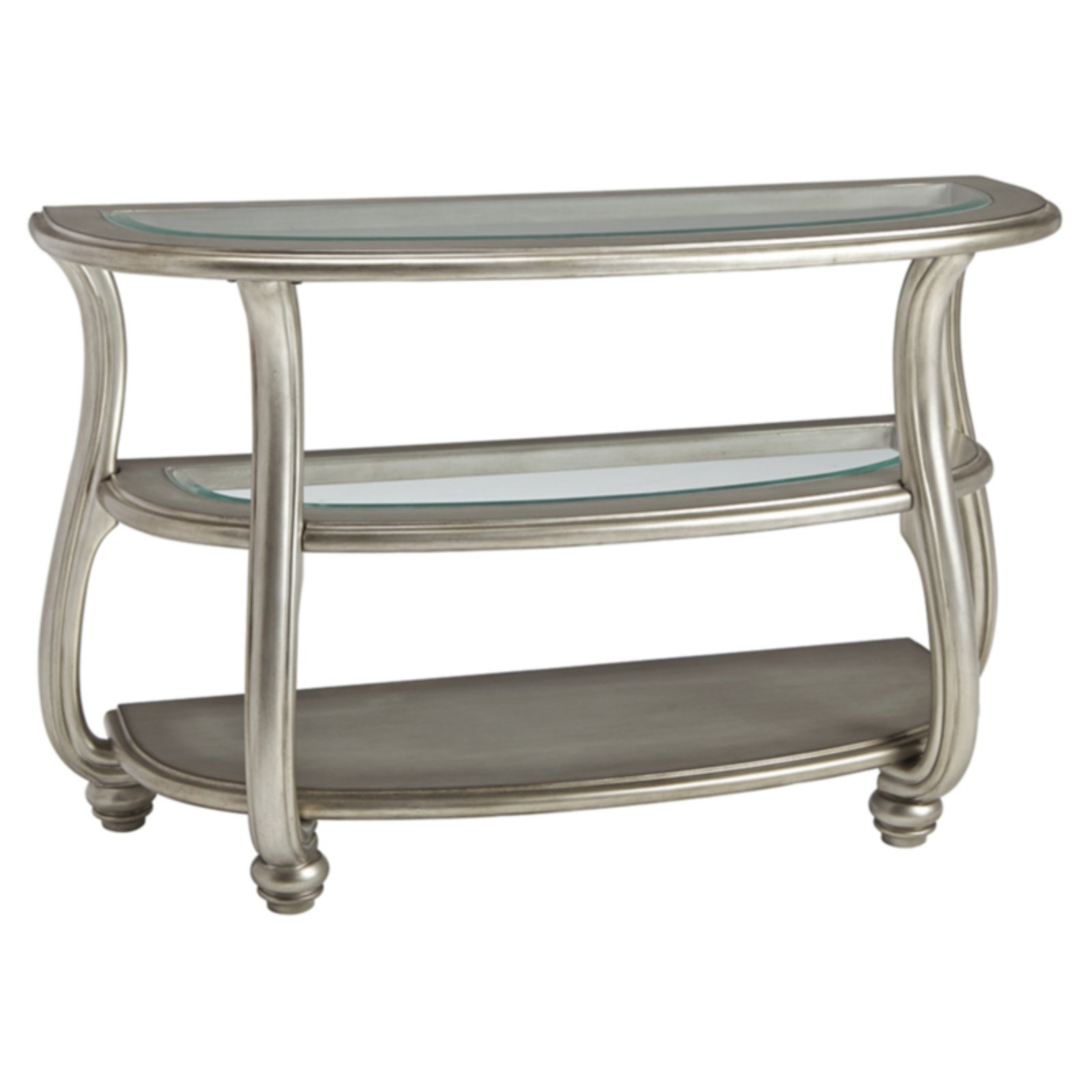 Signature Design by Ashley Coralayne Glass Top Sofa Table