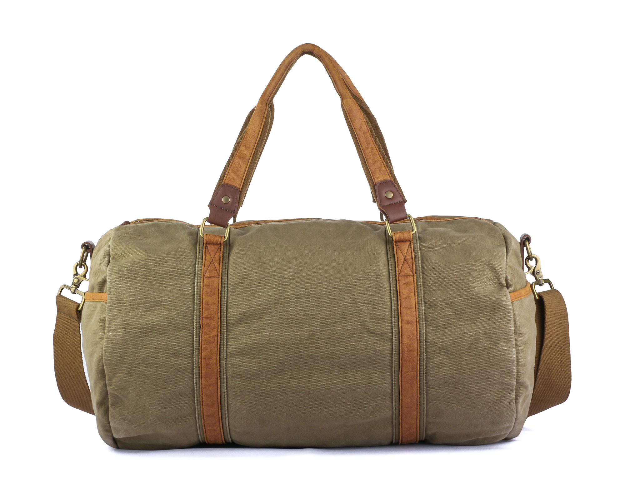 Gootium Vintage Canvas Duffle Bag Carry-on Weekender Sports Gym Bag, 28L,  Army Green ad87866bc2