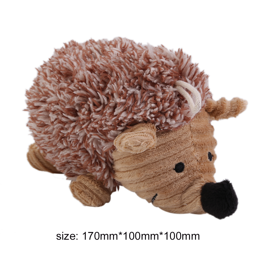 Pet Puppy Plush Sound Dog Toys Pet Chew Squeaker Squeaky Plush Sound Cute Sheep/Hedgehog Dumb Pet Talking Toys Dog Cat Toy
