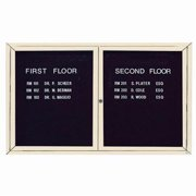 Aarco Products ADC3660IIV Illuminated Enclosed Directory Cabinet - Ivory