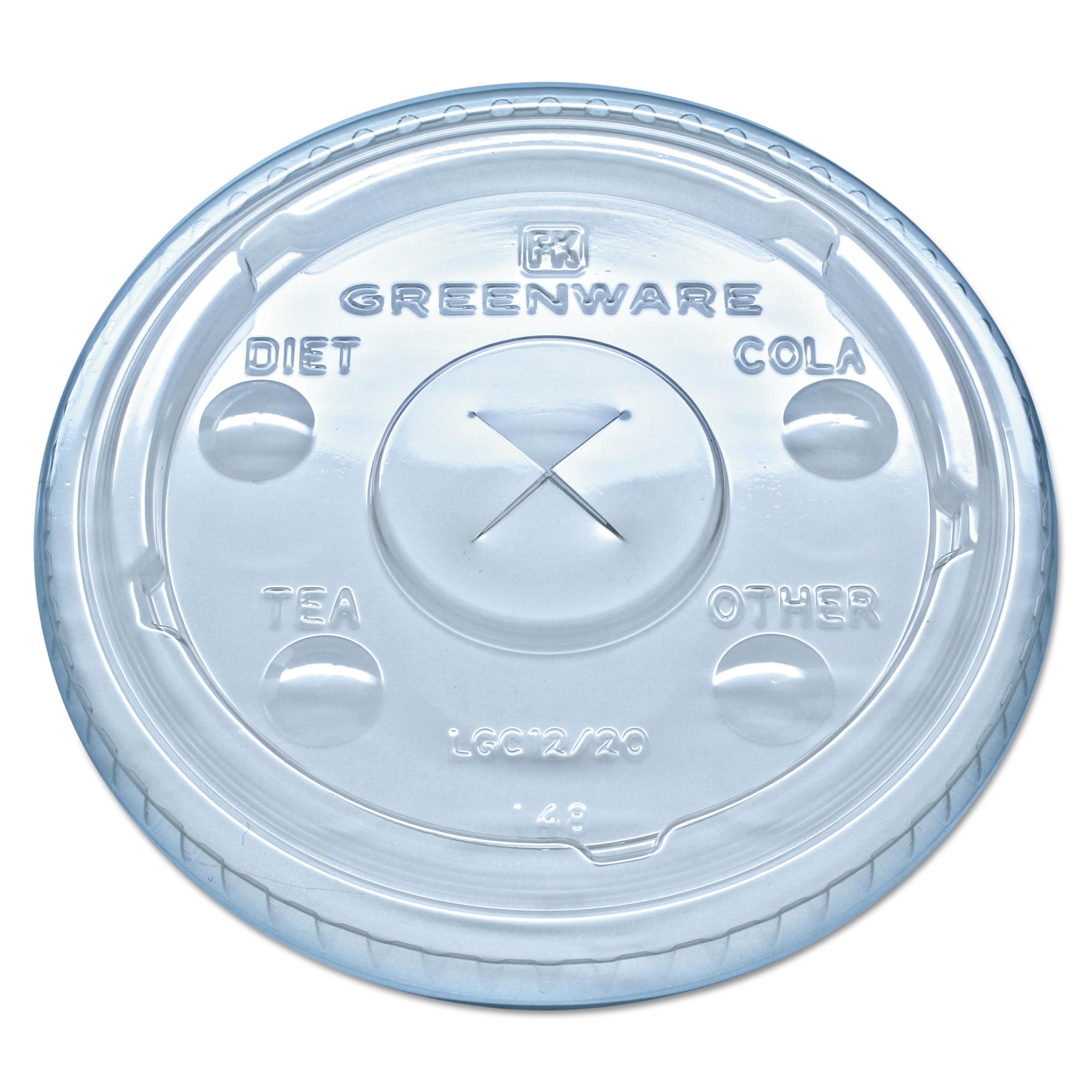 Fabri-Kal Kal-Clear/Nexclear Drink Cup Lids, F/9-20 oz Cups, Clear, Plastic,1000/Carton