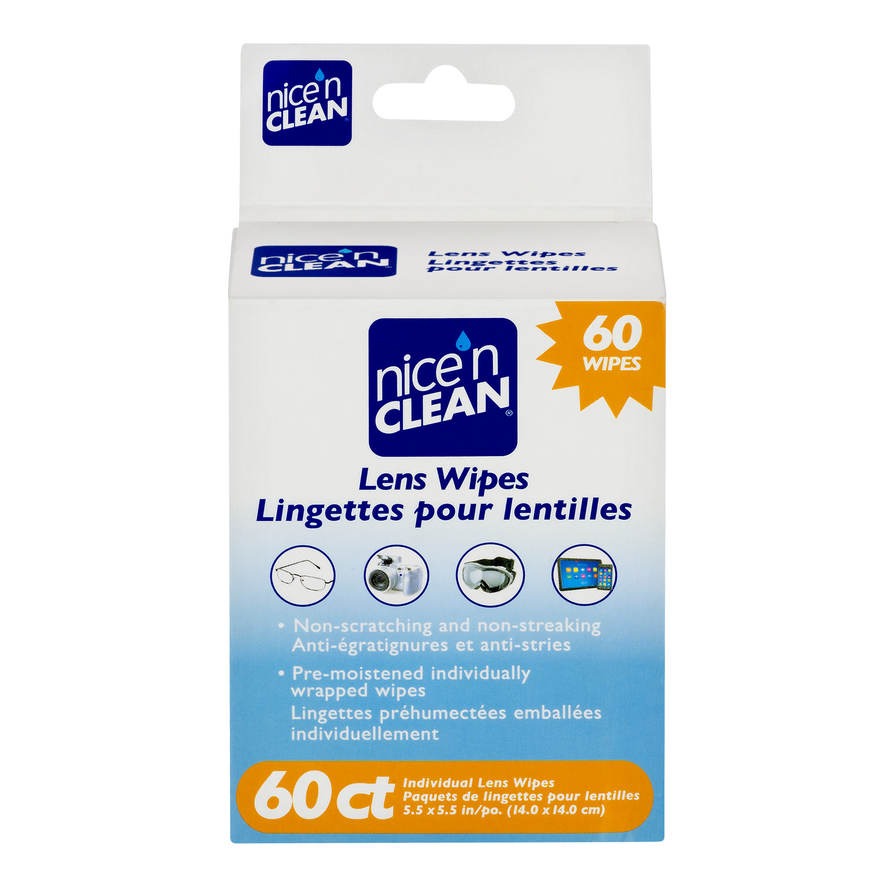 Nice 'n CLEAN® Lens Wipes, 60CT