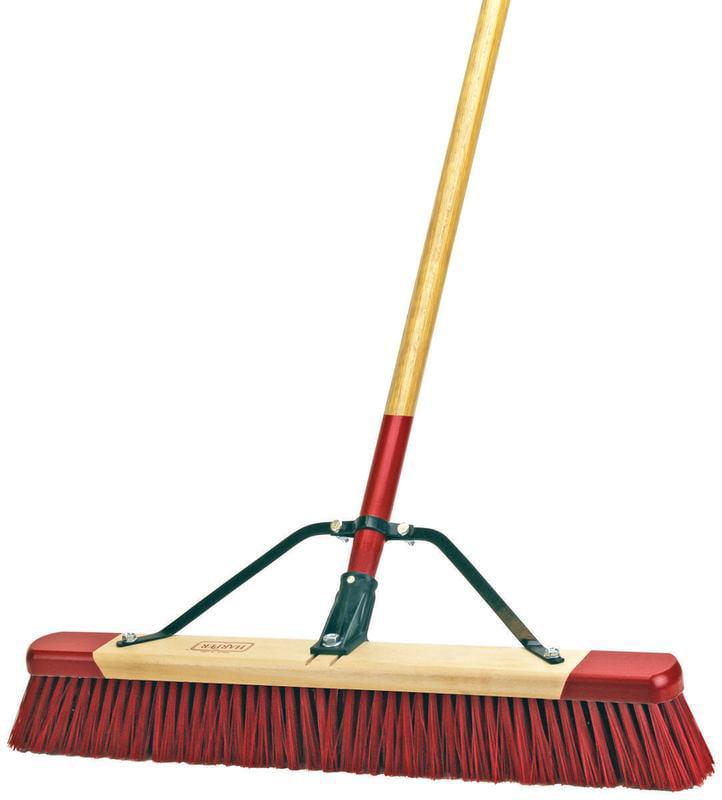 Harper 7324a Professional Red End Assembled Push Broom