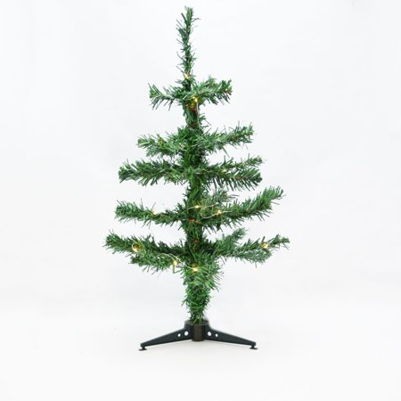small 18 led lighted desktop christmas tree with stand warm white battery operated - Battery Operated Christmas Tree