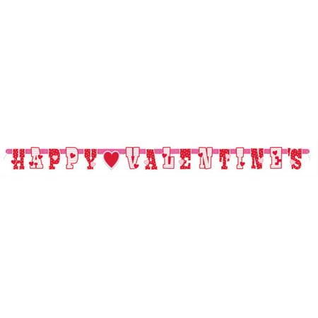 Happy Valentine's Banner, 5ft - Happy Valentines Day Banner