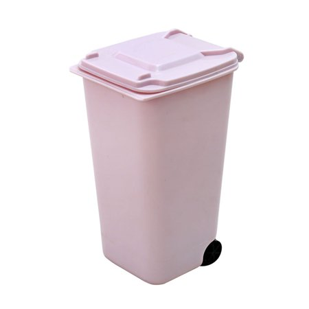 Creative Mini Wheelie Trash Can Plastic Storage Bin Desktop Organizer Pen/Pencil - Wheelie Bin