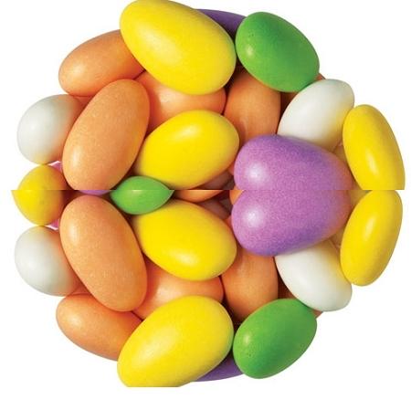 Multi Color Jordan Almonds, 7 Pounds