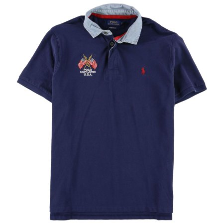 Polo Ralph Lauren NEW Blue Mens Size Large L Polo Rugby Slim Fit Shirt ()