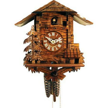 Wood Cabin and Pine Tree Cuckoo Clock (Tree Cuckoo Clock)
