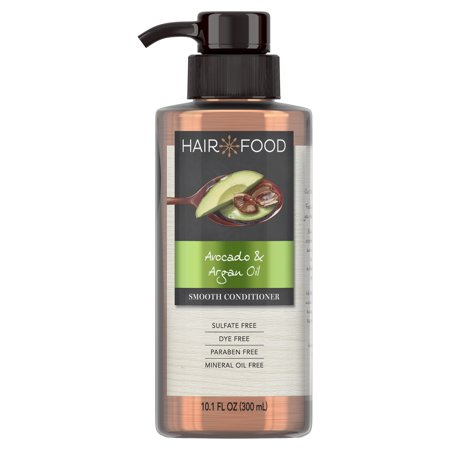Hair Food Avocado & Argan Oil Sulfate Free Conditioner, 10.1 fl oz, Dye Free Smoothing