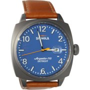 SHINOLA The Brakeman Royal Blue Dial Brown Leather Men's WatchItem No. 11000153