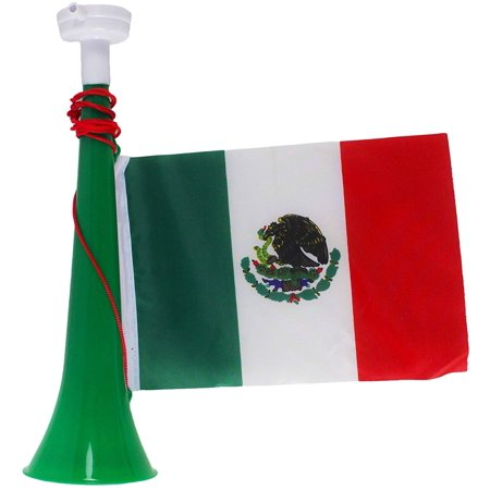 12 Pack Of Soccer Party Event Mexican Flag Party Toy Noise Horn Maker